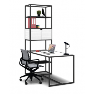 Kado 25 Desk with bookcase